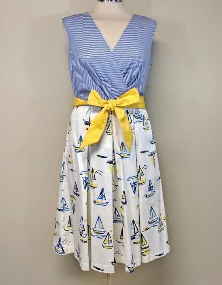 Chetta B Dresses & Skirts - Chetta B Sailboat Dress